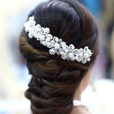 Accessoires Pour Cheveux Mariage Mariée Perles Strass Bandeau Pour Cheveux Bibi