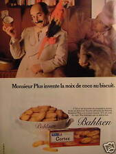 PUBLICITÉ 1981 BAHLSEN BISCUIT AU NOIX DE COCO - ADVERTISING