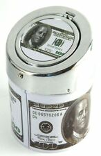 Stainless steel 100$ Dollar Ashtray  Click Car Home Cigarette MY-2198