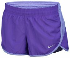 Nike Women's Dri-Fit 2-In-1 Purple/Blue Running Shorts Size M