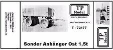 TP Model Sonder Anhenger Ost 1,5 ton 1/72 72177