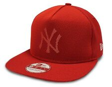 MLB New Era New York Yankees Mesh Core 9FIFTY Red A-frame Snapback Cap New M/L