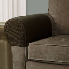 FURNITURE ARMREST COVERS Sofa Couch Loveseat Stretch Fabric Protectors SET OF 2