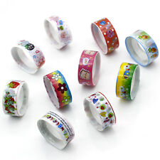 10Rolls Colorful Adhesive Sticker Paper Sticky Washi Glue DIY Tapes Book Decor