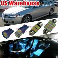 8-pc Aqua Ice Blue Map Dome LED Lights Interior Package Kit For 04-08 Acura TSX