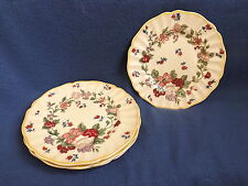Vintage Antique Royal Doulton Wildflower Bread and Butter Plates (4)