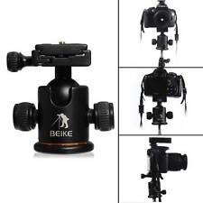 Pro Ball Head + Quick Release For Gitzo Benro Manfrotto Velbon Tripod Monopod