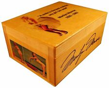 Marilyn Monroe portrait figure statue, BOX with SIGNED AUTOGRAPHED, Poster Quote