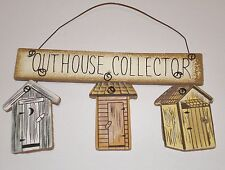 pRiMiTiVe Rustic Country Bath Decor OUTHOUSE COLLECTOR