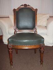 Oiginal louis xvi d/olive cuir salon chaise