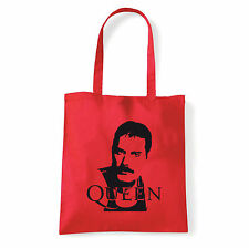 Art T-shirt, Borsa shoulder Queen Freddy Mercury, Rossa, Shopper, Mare