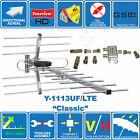 CLASSIC LTE READY DIGITAL FREEVIEW HDTV AERIAL + 1 AERIAL 2 TV'S CONNECTORS KIT