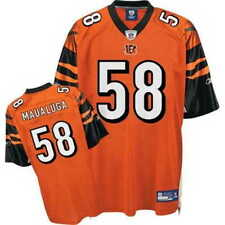 REEBOK Cincinnati Bengals REY MAUALUGA nfl Jersey Adult MENS/MEN'S (m-medium)
