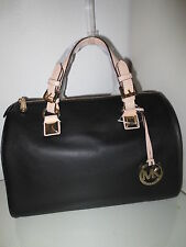 Michael Kors Damen Tasche GRAYSON MD Black Schwarz Satchel Taschen Handtasche