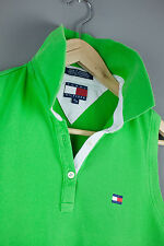 Tommy Hilfiger Polo Vest Shirt Size M Ladies Womens Top Green White