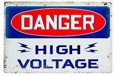 Signo de metal estilo Vintage peligro de alta tensión Bar Pub garaje Placas Decoración de pared