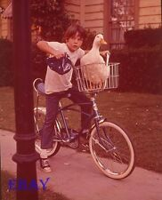 Boy on bike Vintage 4 X 5 Transparency Million Dollar Duck