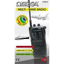 Omega Icon-3 Multi Band Radio Receiver AIR PB MARINE WB CITIZEN CB TV-1 Black