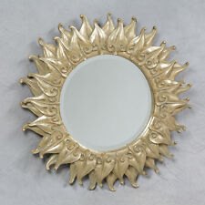 Stunning Antique Gold Framed Flame Mirror Sun 52cm Large Layered