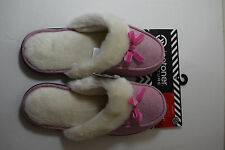 NEW ISOTONER Comfy Holiday Slippers Heathered Clog Microsuede Berry LG 8.5 -9