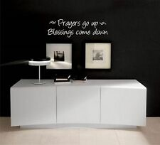 Prayers Go up Blessings come Down  Bible quote  wall vinyl decal