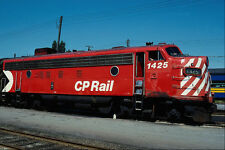 578090 Canadian Pacific EMD FP 7 1425 Vancouver BC 1980 A4 Photo Print