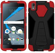 AMZER Dual Layer Hybrid Armor Kickstand Case For BlackBerry DTEK50 - Black/ Red