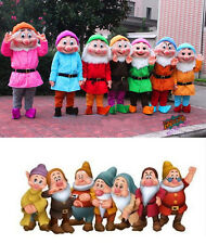 Free Shipping Seven Dwarfs Mascot Costume Outfit from the Snow White Fancy Dress