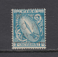 Ireland Sc 117 used 1940 1sh blue Sword of Light, top value to set
