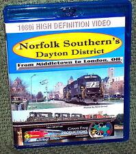 """20137 BLU-RAY HD TRAIN VIDEO """"NORFOLK SOUTHERN"""" DAYTON DISTRICT"""