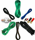 4 Gauge Amplfier Power Kit for Amp Install Wiring Complete RCA Cable GREEN 3000W