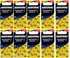 60 x RAYOVAC ACOUSTIC TYP 10 DA10 PR70  1,45V 105mAh Hörgerätebatterie