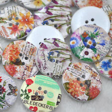 New 20pcs Big Spring Flowers Wood Buttons 30mm Sewing Craft Mix Lots WB267