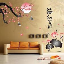 Flower Birds Chinese character Wall Sticker Mural art Decal vinyl Room Decor