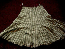 Ladies Per Una by Marks & Spencer white beige & green linen mix skirt size 16