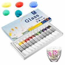 12 Color 12ml Non Toxic Waterproof Glass Paint Tube Set Stain Glass Painting Kit