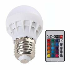 New 3W E27 AC85-265V RGB LED Light Lamp Bulb Color Changing  IR Remote Control
