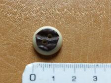 Hirschhornknopf Imitat Trachtenmode Form rund 1,5cm Durchm Hirschhorn Hornknöpfe