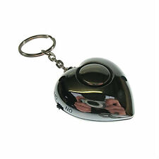 Safehaus Heart Shaped Personal Attack Rape Alarm Panic Security Keyring Silver
