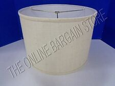 "Ballard Designs Couture Drum Table Floor Lamp Shade Ivory Burlap 14"" Small"