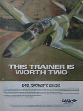 12/1991 PUB AVION CASA C-101 MILITARY TRAINER AIRCRAFT ORIGINAL AD