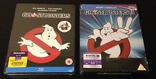 GHOSTBUSTERS 1 & 2 Blu-Ray SteelBook Zavvi UK Exclusive Region ABC Sold Out Rare