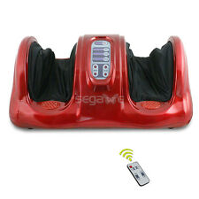 Used Shiatsu Foot Massager Kneading Rolling Leg Calf Ankle w/Remote Red Burgundy