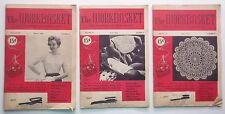 The Workbasket Magazine Lot of 3 Issues March April June 1956 Crafts Recipes