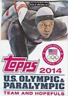 2014 Topps U.S. Olympic and Paralympic Team and Hopefuls 100 Card Set
