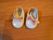 Pleasant Company American Girl Doll Samantha White Shoes For Tea Party Dress