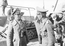 WW2 Photo WWII German General Erwin Rommel with Staff North Africa  / 2275