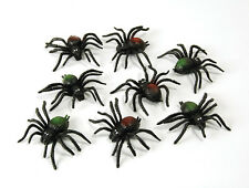8 #SPIDERS PLASTIC SCARY CREATURES HALLOWEEN DECORATION PROP FANCY DRESS
