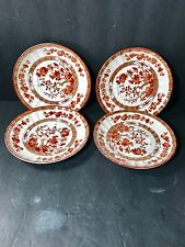 (4) Copeland Spode China INDIAN TREE, 2/959, C1730, Orange Rust SAUCERS ONLY VGC