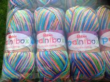 ROBIN DOUBLE KNITTING WOOL PAINTBOX TROPICAL MIX YARN 5X100G THOMAS RAMSDEN 1129